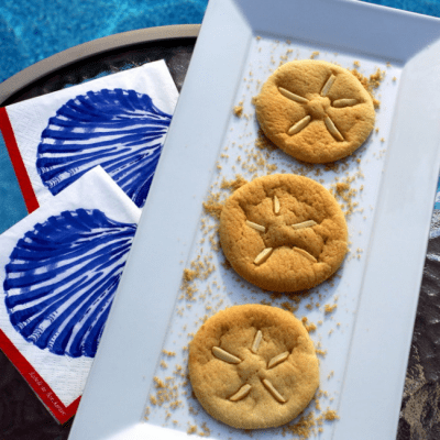 Sand Dollar Sugar Cookies