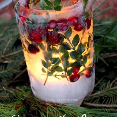 DIY Holiday Ice Lanterns