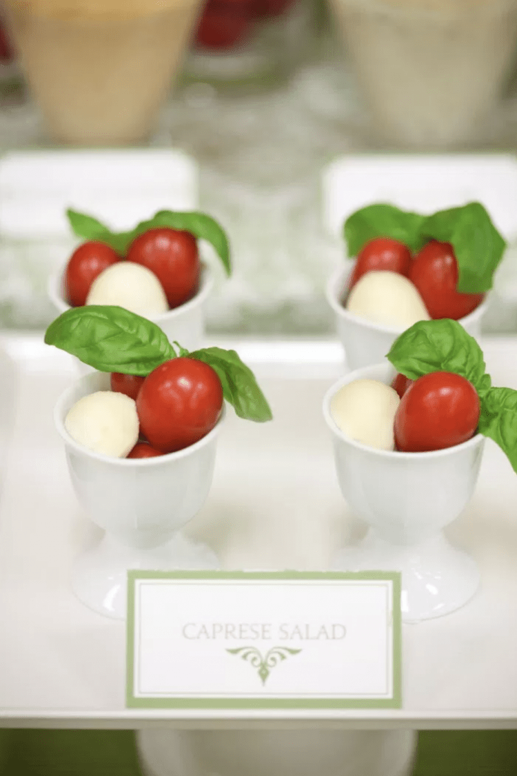 Party Fruit and Veggie Table | Party Fruit and Veggie Bar | Appetizer Table | Caprese Salad