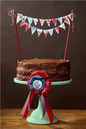 Country Fair Party Cake and Bunting