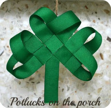 St. Patrick's Day Ribbon Shamrock