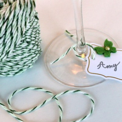 DIY Elegant Party Wine Charms