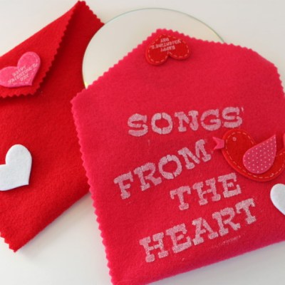 "DIY Valentine's Day Card – ""Songs From The Heart"""