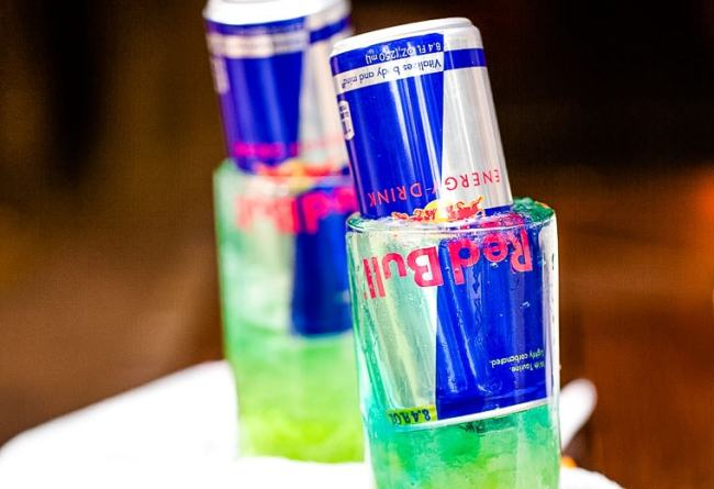 St. Patrick's Day Drink idea featuring redbull