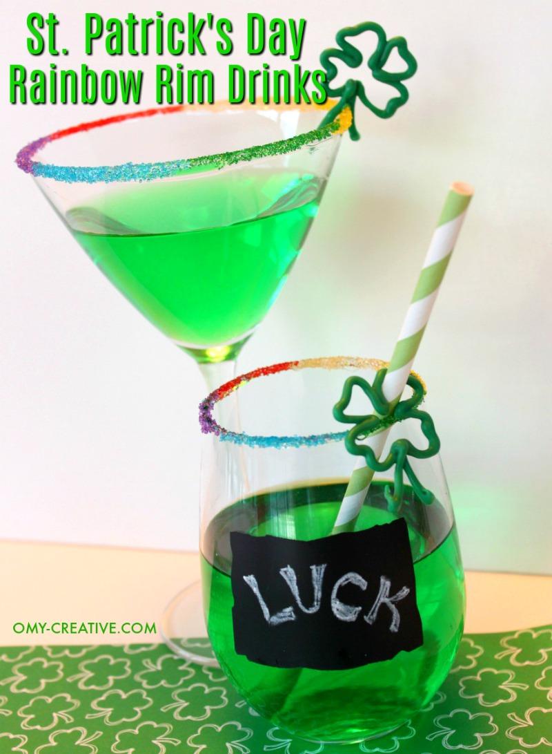 St. Patrick's Day Drinks | OHMY-CREATIVE.COM | Green Drinks for St. Patrick's Day | St. Patrick's Day Cocktails | St. Patrick's Day Drink Recipes | St Paddys Drinks | Irish Cocktails | St. Patty's Day Drinks Recipes
