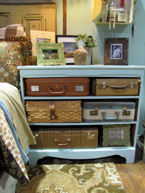 rolling bath chair drive medical 20 diy vintage suitcase decorating ideas! - oh my creative