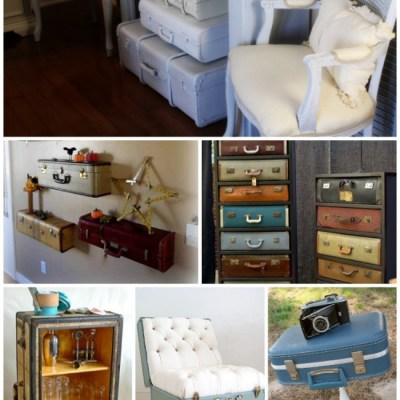 20+ DIY Vintage Suitcase Decorating Ideas!