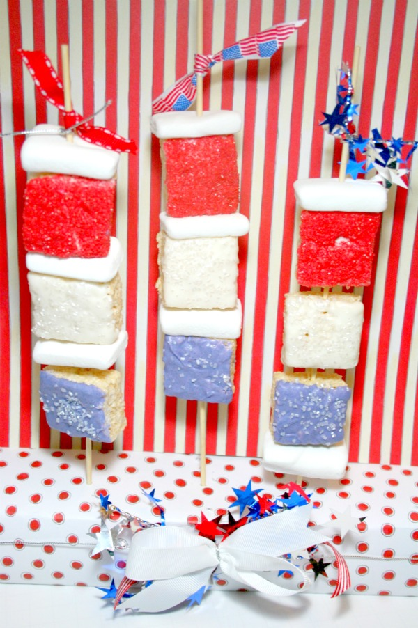 4th of july rice krispe treats