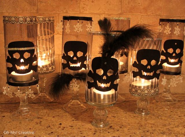 Halloween Skull Candle Holders - Oh My Creative