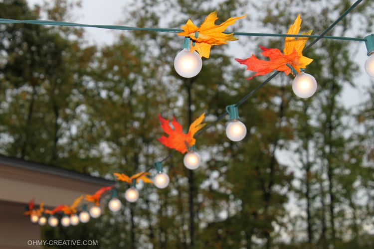 Easy DIY Autumn Leaf Lights