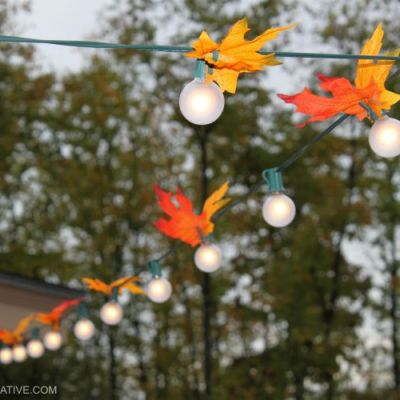 Easy DIY Autumn Leaf Lights