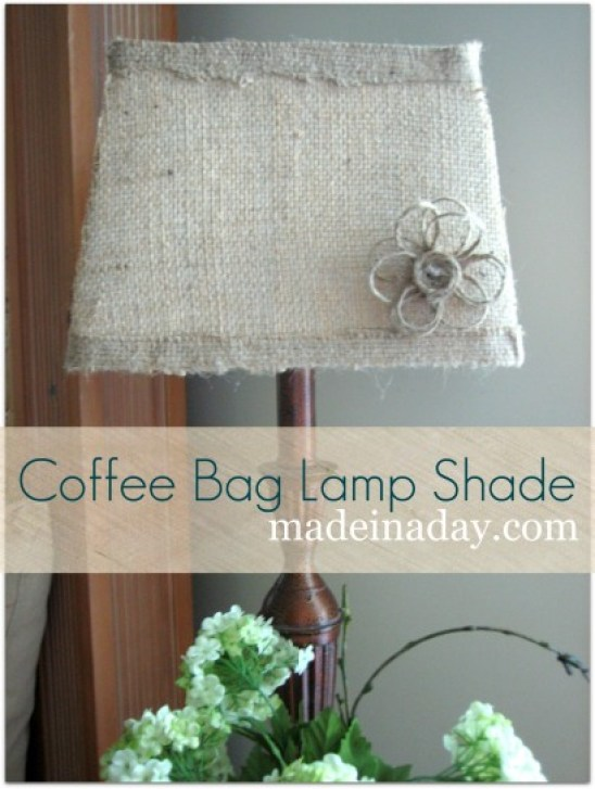 DIY Burlap Lamp Shade