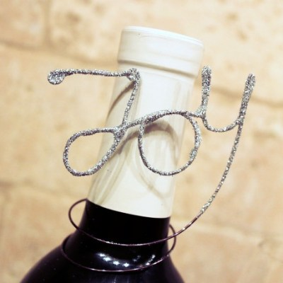 Glitter Wire Wine Bottle Gift Tags
