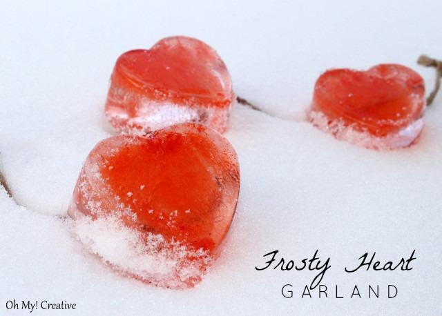 Frosty Valentine's Day Heart Garland | OHMY-CREATIVE.COM