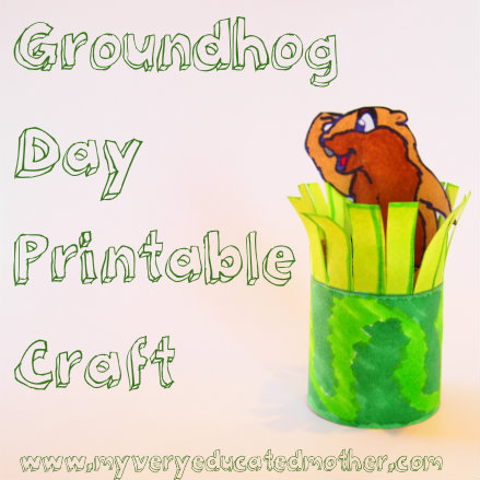 Groundhog Day kids craft