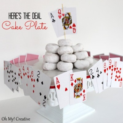 Here's The Deal – Playing Card Cake Plate