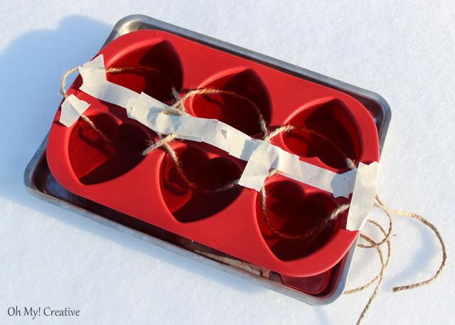 Frosty Valentine's Day Heart Garland - Wilton Heart Mold Craft