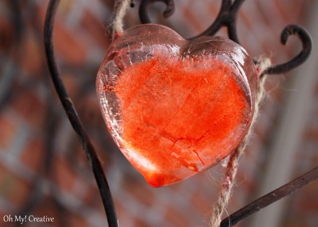 Valentin's Day Frozen Ice Hearts