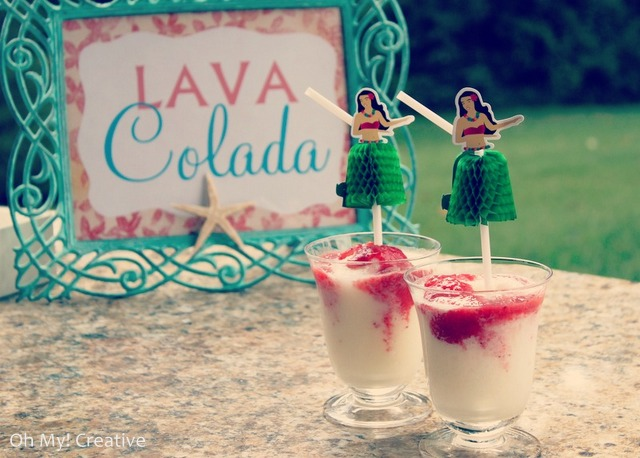 Lava-colada-drink perfect for a luau party