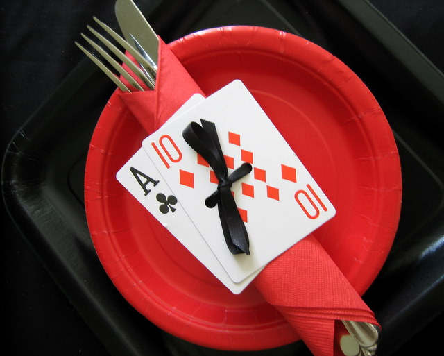 Casino poker night card game party ideas