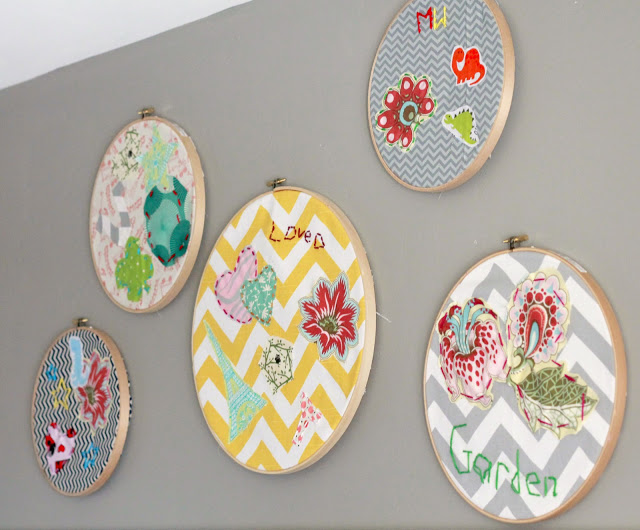 Embroidery hoop art kids craft