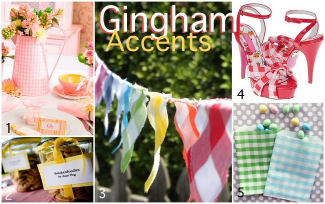 Spring Gingham Accents For Spring