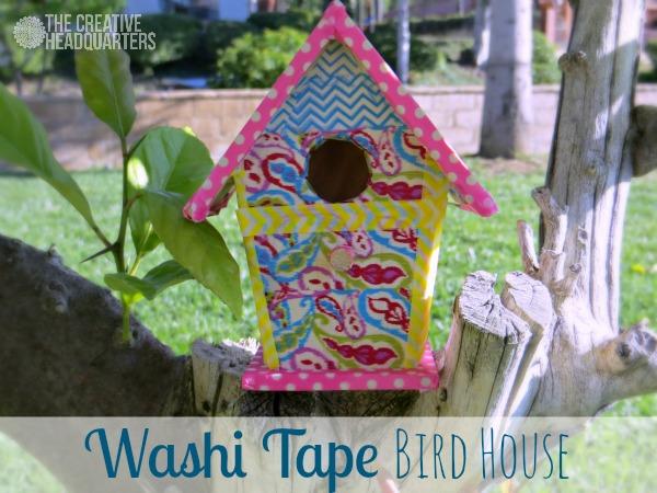 Washi Tape Birdhouse Craft