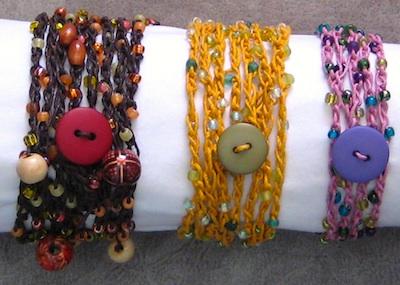 DIY Colorful Hemp Bracelet