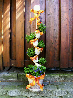 Stacked Newspaper Garden Pots