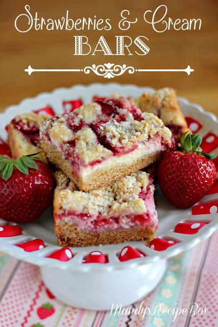 Strawberries & Cream Bars on Mandy's Recipe Box