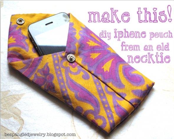 Necktie DIY: iPhone or iPod Pouch Tutorial