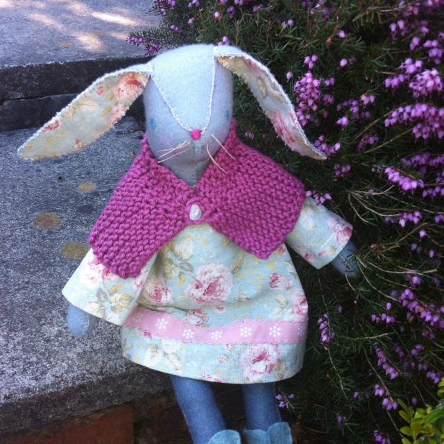 Hand Stitched Wool Felt Bunny
