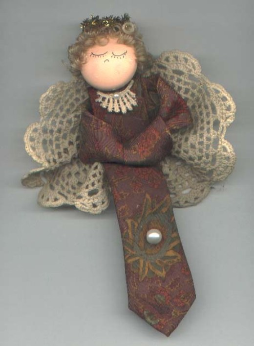 Necktie Angel Christmas Craft