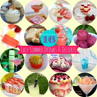 16 Easy To Make Summer Drinks And Desserts