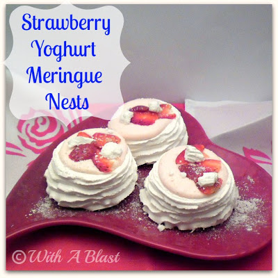 Strawberry Yoghurt Meringue Nests