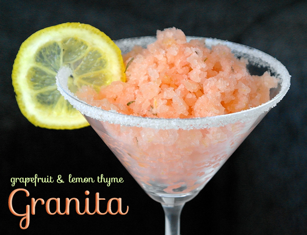 grapefruit lemon thyme granita
