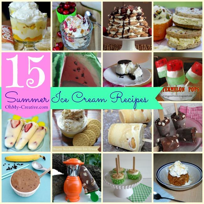 15 Summer Ice Cream Recipes - OhMy-Creative.com