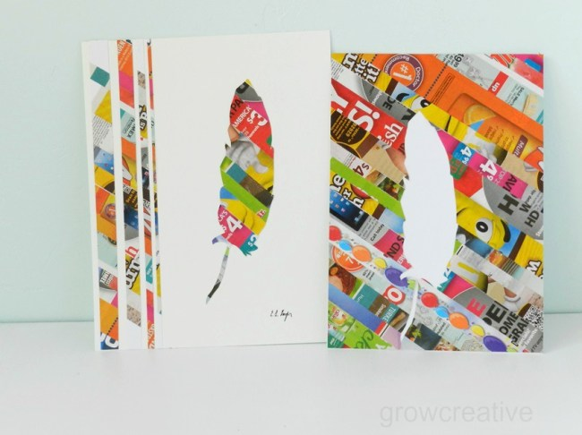 Artwork made from Junk Mail