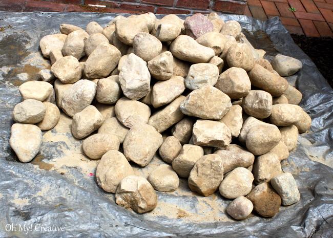"4"" river rock stone"