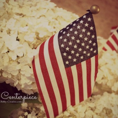 Easy Patriotic Flag Centerpiece