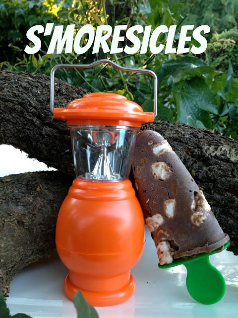 s'mores ice cream popsicles