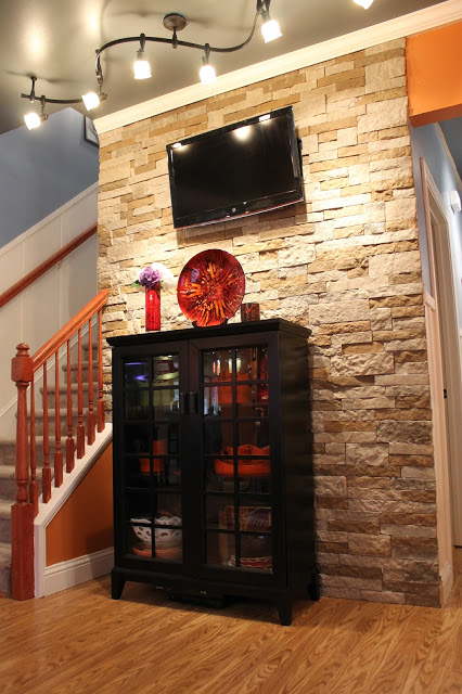 How to add a stone wall to familyroom