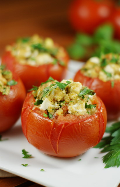 Feta-Stuffed Tomatoes