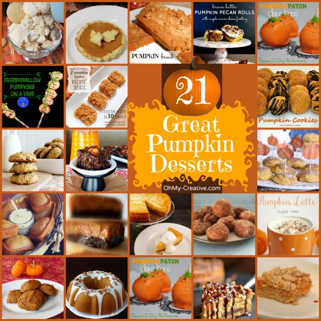 21 Great Pumpkin Desserts - OhMy-Creative.com
