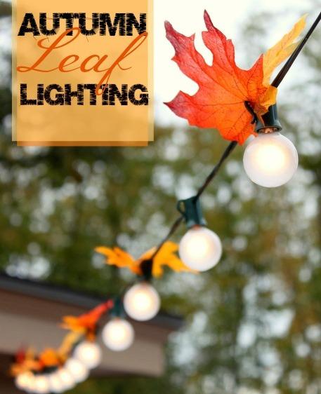 Autumn leaf lighting