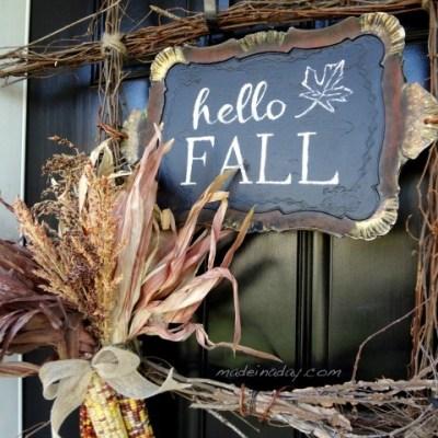 Fall Harvest Wreath & Free Printable