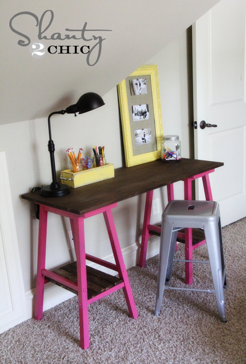 Goodwill DIY Barstool Desk