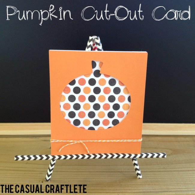 Pumpkin cutout card
