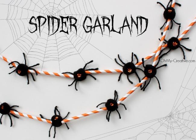Spider Garland + Halloween Blog Hop & Link Party