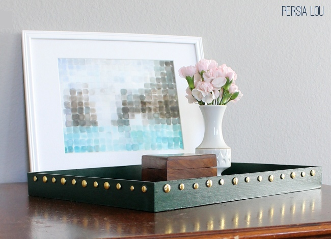 DIY Studded Lacquer Tray - Oh My! Creative